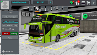 Livery Scania Green SHD Jetbus 2nd