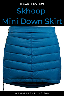 Gear Review: Skhoop Mini Down Skirt, best down skirts, hiking skirts