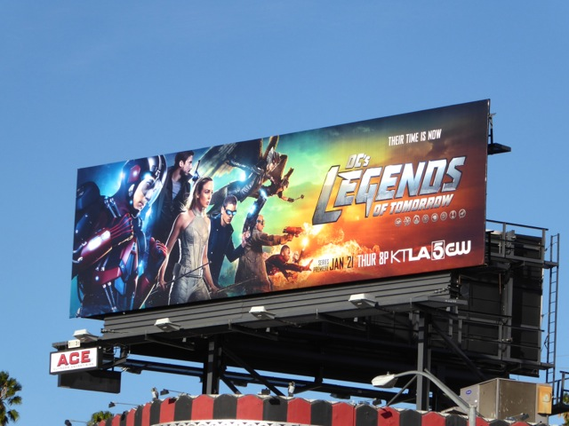 DC's Legends of Tomorrow series launch billboard