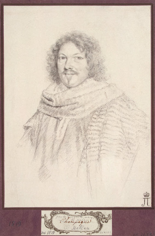 Portrait of Rene de Longueil, Marquis de Maison by Claude Mellan - Portrait Drawings from Hermitage Museum
