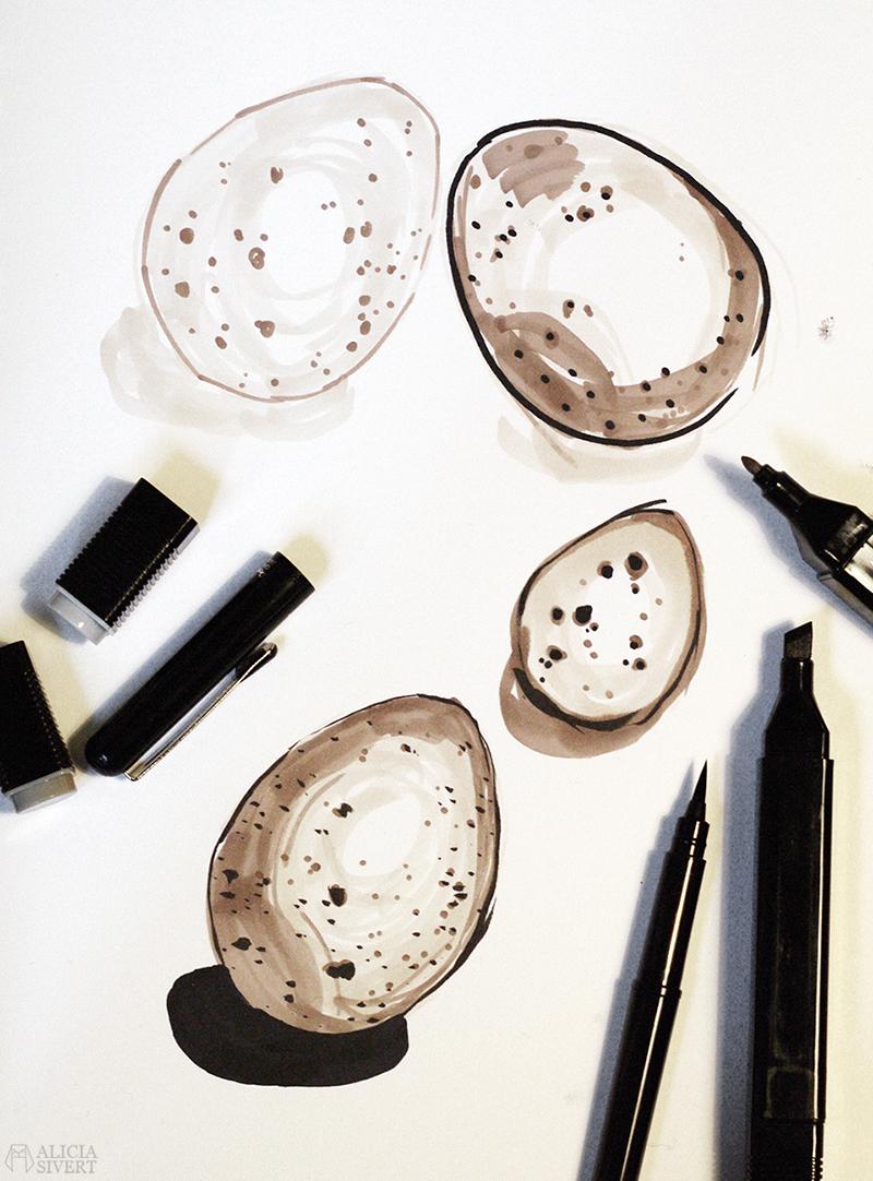 Teckningsutmaningen i juni, foto av Alicia Sivertsson. aliciasivert teckning teckningar teckna rita skiss skissa skapa skapande utmaning kreativitet skaparutmaning bloggutmaning månadsutmaning kreativ penna pennor marker markers ägg