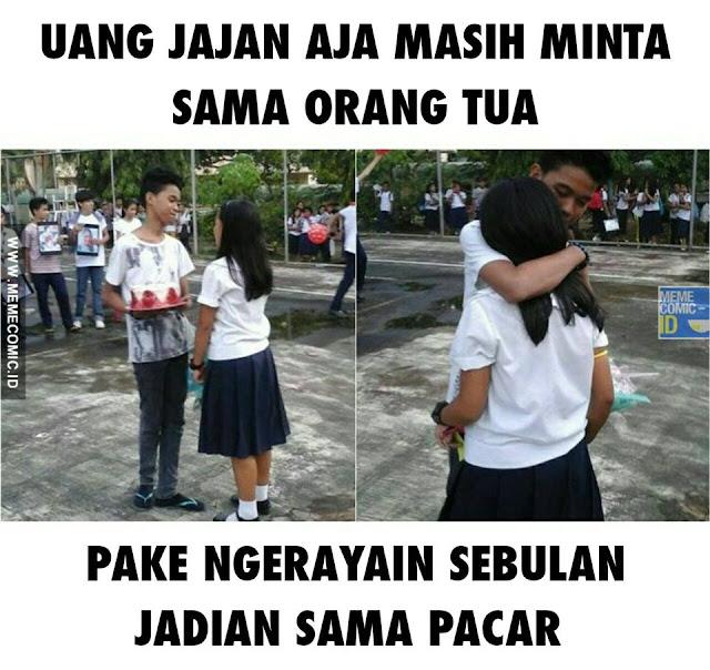Meme Kids Jaman Now Ngerayain Jadian Pacaran Tiap Bulan