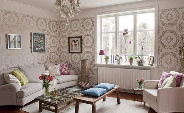 Desain Ruang Tamu Minimalis Dengan Wallpaper Dinding Ruang Tamu Minimalis