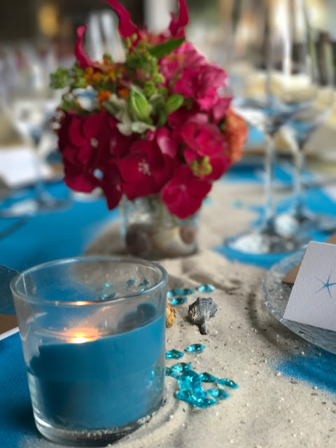Tischdekoration, exotisch heiraten, Malediven Karbiik-Hochzeit im Seehaus, Riessersee Hotel Garmisch-Partenkirchen Bayern, Hochzeitsplanerin Uschi Glas