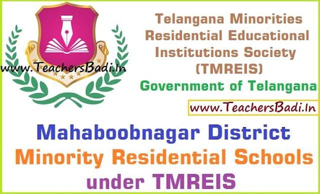 Mahaboobnagar District,Minority Residential Schools,TMREIS