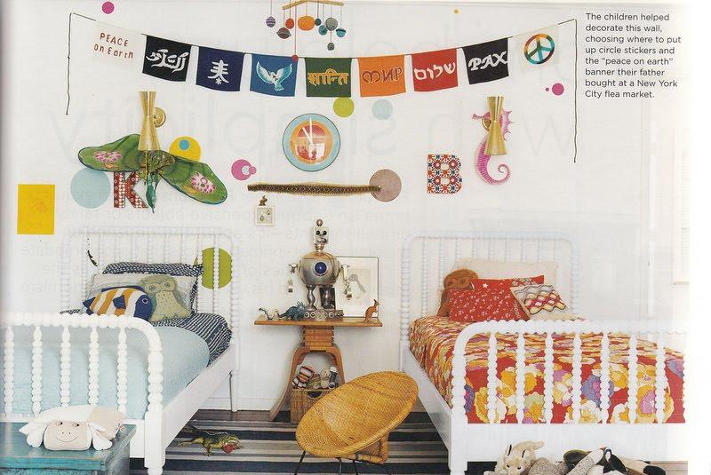 غرف نوم اطفال بسريرين منفصلين للمساحات الصغيرة | ديكور بلس