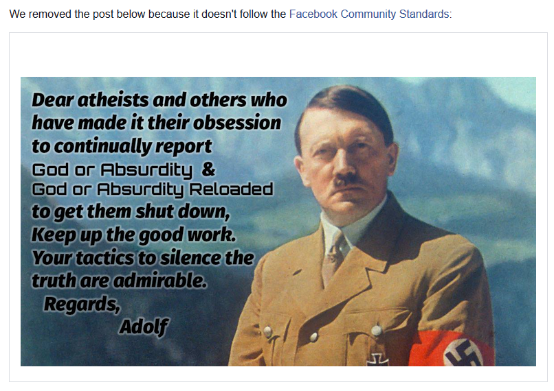 dear%2Batheists%2Bhitler%2Bremoved%2Bedited god or absurdity blog 30 day ban for dear atheist hitler meme