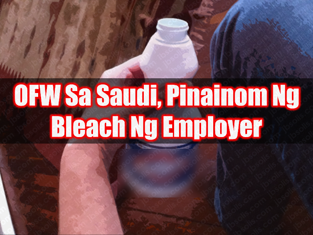 """According to DFA, Agnes Mancilla was rushed to the  King Fahad Central Hospital in Jizan on April 2 by concerned Filipino community. The doctors conducted laparotomy procedures to remove the bleach from her system. Burn marks are also found in the OFWs back.  Advertisement        Sponsored Links        The Filipina household service worker is now in serious condition and remained in the hospital for recovery.  Based on information reaching the DFA, Mancilla suffered physical abuse regularly since working for her employer in 2016. She was also refused pay for her work.  Consul General Edgar Badajos said the consulate """"will regularly send representatives to Jizan to follow up her case with the police and to look into her condition.""""  Badajos has also requested the Filipino community to keep an eye on the Mancilla.  Badajos said Consulate officials have visited Mancilla and made representations with authorities in Jizan to make sure the appropriate charges were filed against her employer, who was later arrested by police.  During his visit to Pahima Alagasi, the OFW who returned home four years after her Saudi employer poured boiling water on her, last Saturday, President Rodrigo Duterte reiterated that the government is doing everything it can to put an end to abuses against Filipino migrant workers in the Middle East.  Duterte has ordered the ban on deployment of OFWs to Kuwait following reports of abuses, among them the killing of Joanna Demafelis, whose body was found inside a freezer in an unoccupied apartment last February. READ MORE: Recruiters With Delisted, Banned, Suspended, Revoked And Cancelled POEA Licenses 2018    List of Philippine Embassies And Consulates Around The World     Classic Room Mates You Probably Living With   Do Not Be Fooled By Your Recruitment Agencies, Know Your  Correct Fees    Remittance Fees To Be Imposed On Kuwait Expats Expected To Bring $230 Million Income    TESDA Provides Training For Returning OFWs   Cash Aid To Be Given To Displ"""