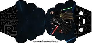 Tarjeta con Forma de Cupcake de Star Wars.