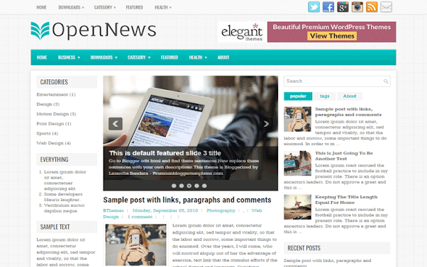 OpenNews Free Blogger Template