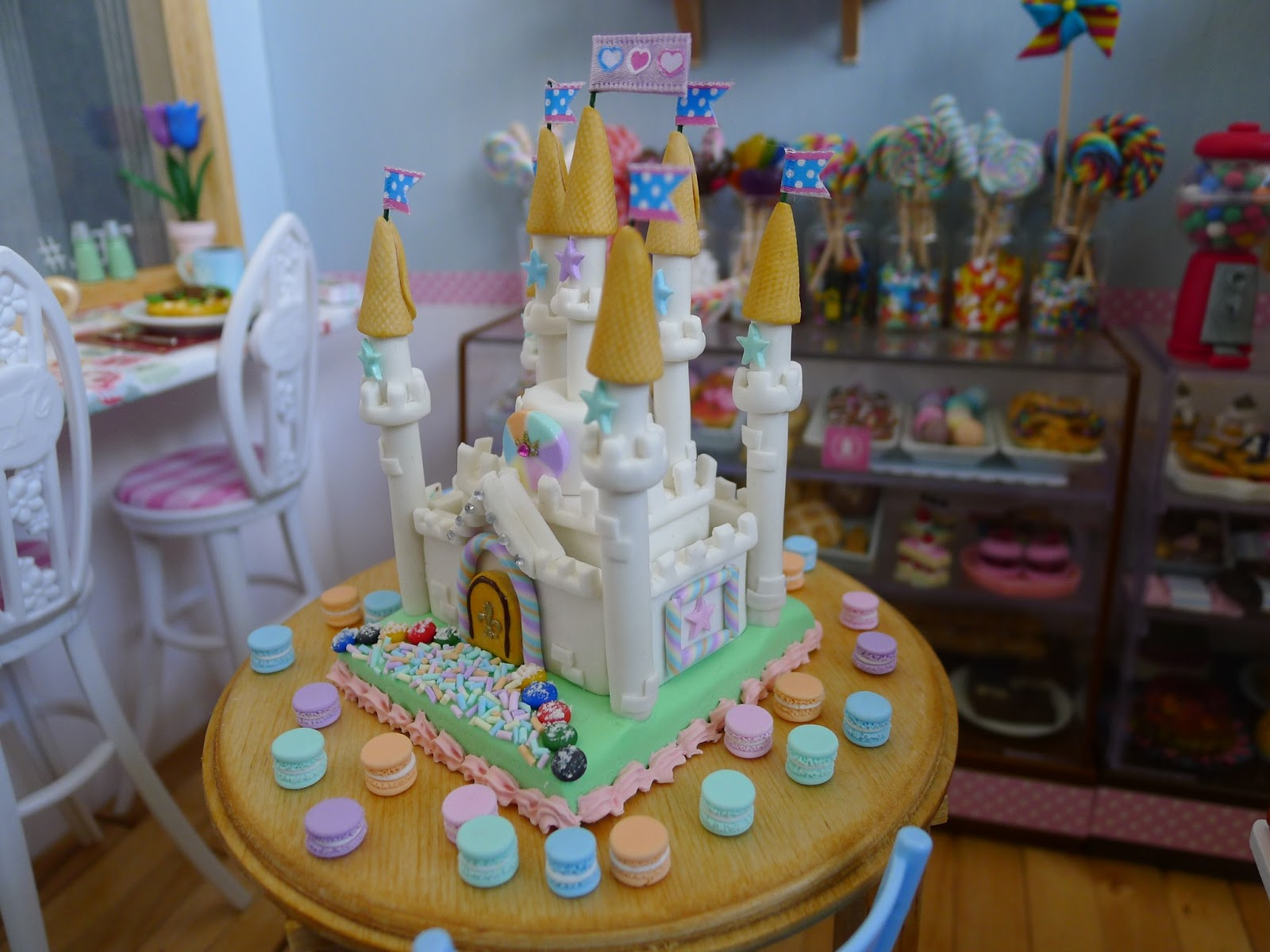 Littlest Sweet Shop New In White Marshmallow Castle Cake