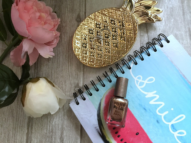 barry m molten metal nail varnish bronze bae