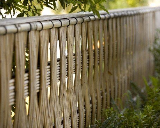 gambar desain pagar minimalis dari bambu