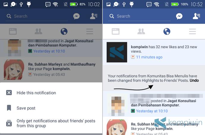 facebook pemberitahuan