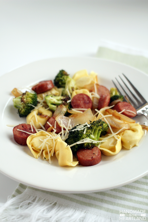 Roasted Broccoli and Sausage Tortellini Recipe