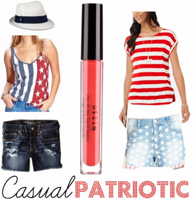 4th of July Outfit Inspiration, Flag tank, patriotic