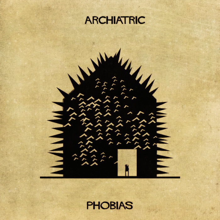 11-Phobias-Federico-Babina-ARCHIATRIC-Mental-Health-Illustrations-Paired-with-Architecture-www-designstack-co