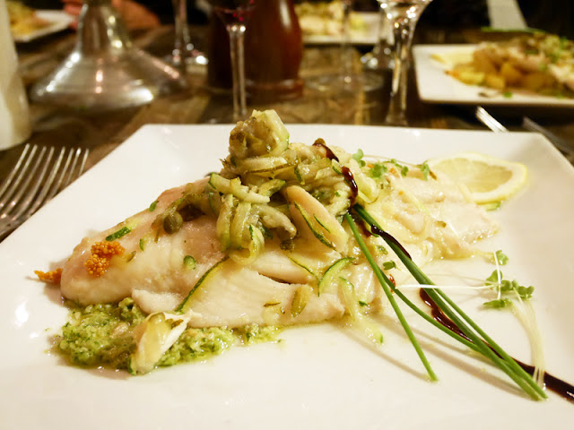 steamed cod at Mediterraneo, Italian restaurant Brighton