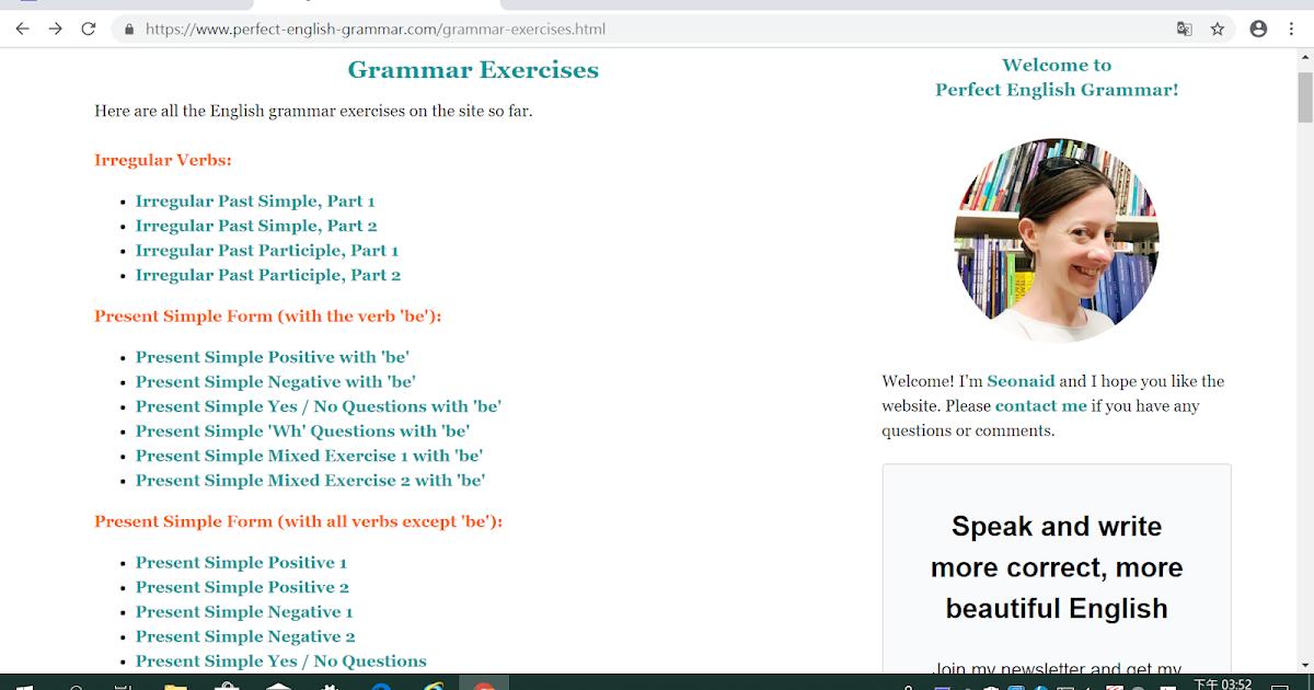 Eva Chang Grammar Exercises