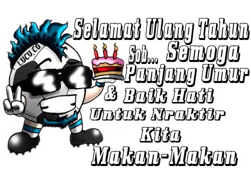 Gambar kata  kata Lucu Gokil ucapan selamat ulang tahun