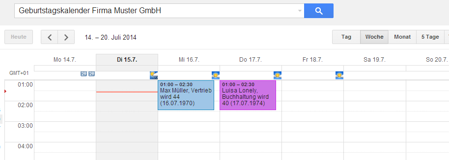Geburtstagsliste Datenschutz