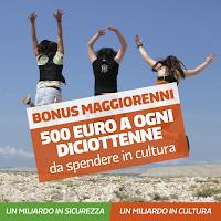 Bonus 500 euro maggiorenni anche per stranieri