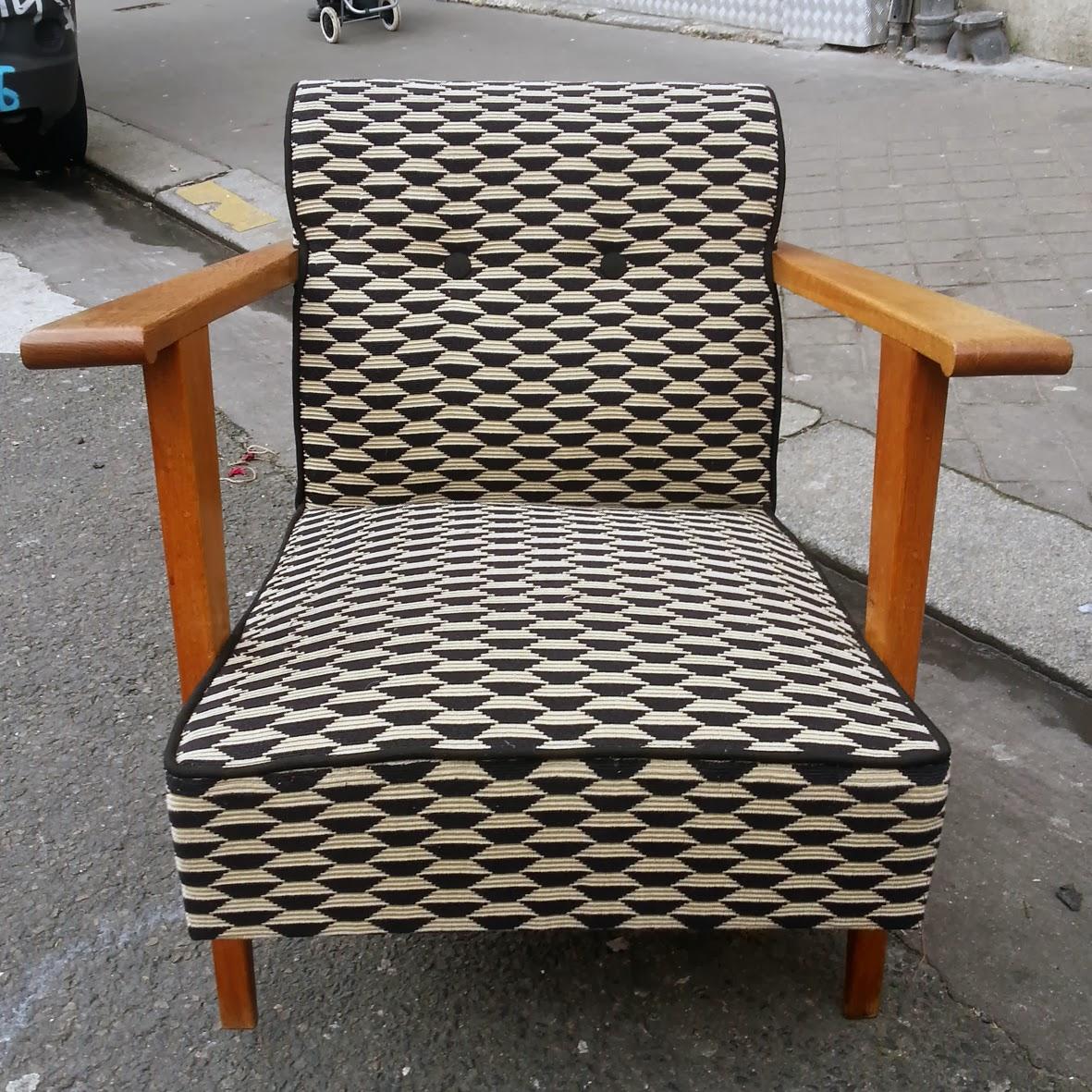 avant apr s fauteuil ann es 50 atelier velvet artisan tapissier paris 10e. Black Bedroom Furniture Sets. Home Design Ideas