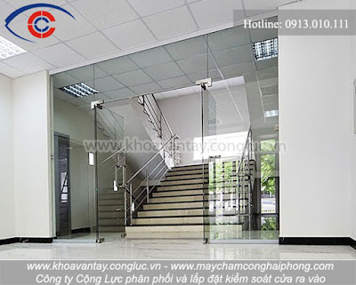 Phân phối và lắp đặt sản phẩm kiểm soát cửa ra vào lắp đặt cho cửa kính tại Hải Phòng.