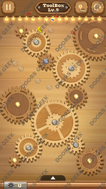 Fix it: Gear Puzzle [ToolBox] Level 9 Solution, Cheats, Walkthrough for Android, iPhone, iPad and iPod