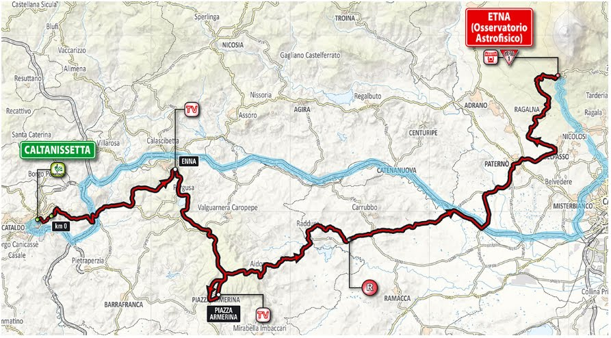 DIRETTA GIRO d'Italia 2018: partenza Caltanissetta, arrivo Etna, Streaming Gratis Tappa 6 Oggi su Rai TV