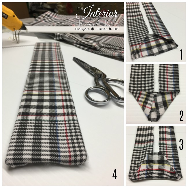 Cover Backing With Flannel Shirt To Line Trunk