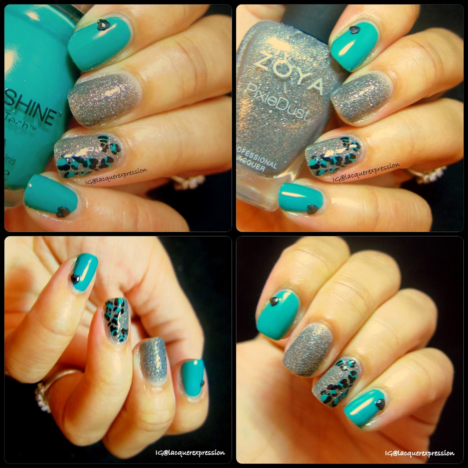 Nail Art Green Leopard Print Manicure Lacquerexpression