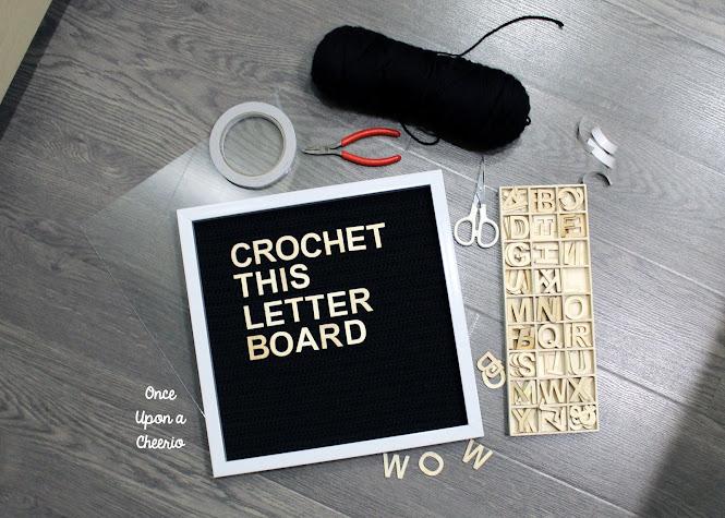 DIY Crochet This Letter Board