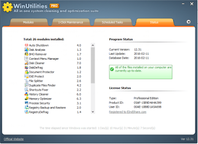 Winutilities Professional Edition 13.23 Full Keygen Terbaru