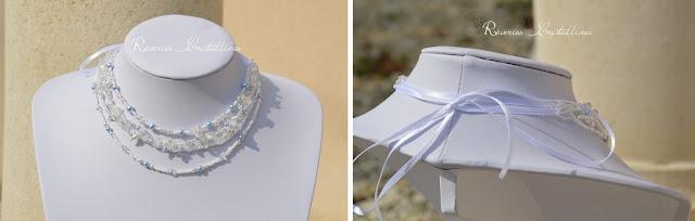 bijou avec ruban satin blanc
