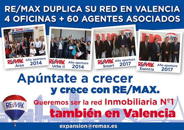 REMAX abre 4 nuevas oficinas en Valencia