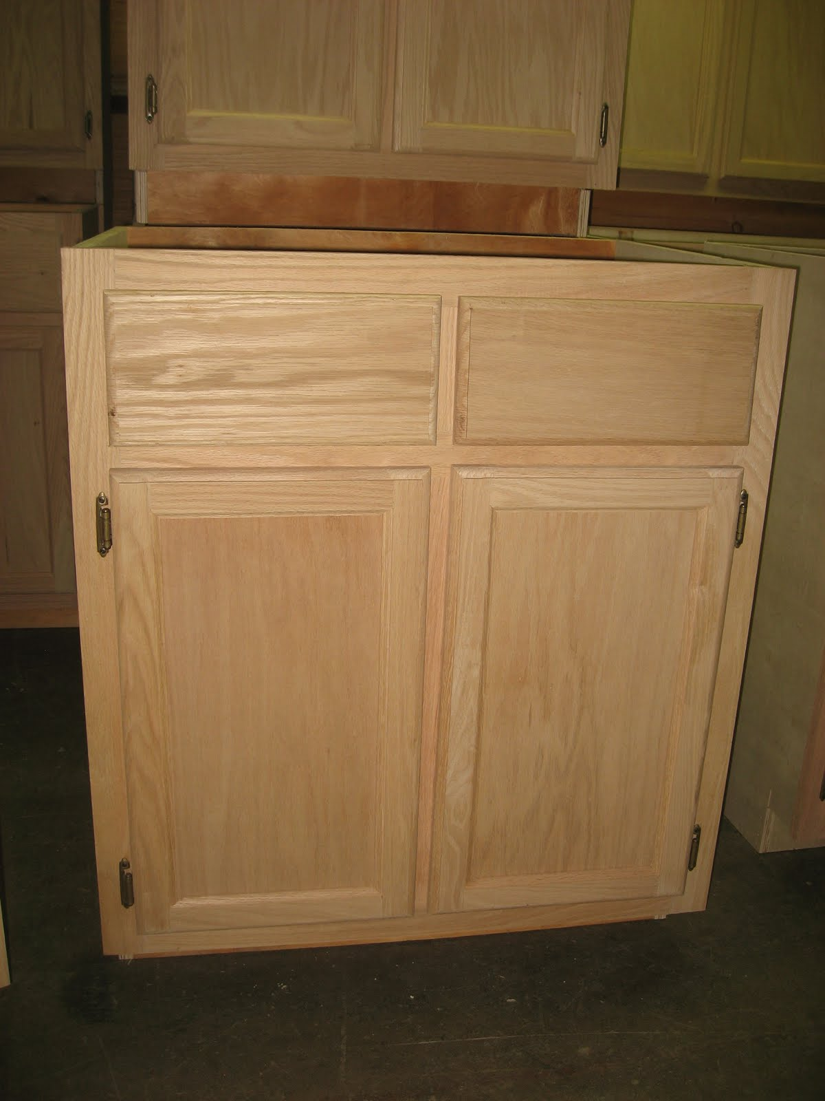 Cheap Unfinished Cabinets For Kitchens Delta Trinsic Kitchen Faucet Blue Ridge Surplus Oak