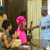 Former BB Naija contestant Debie-Rise and her guitar pays Governor Yahaya Bello courtesy visit