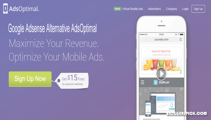 AdsOptimal best AdSense alternative