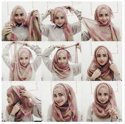 Tutorial Style Hijab Pashmina Untuk Wajah Bulat dan Kesan Kalem