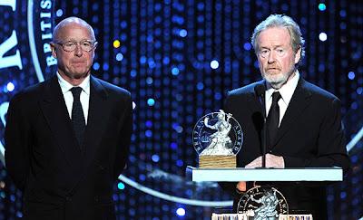 Tony Scott alături de fratele său Ridley Scott