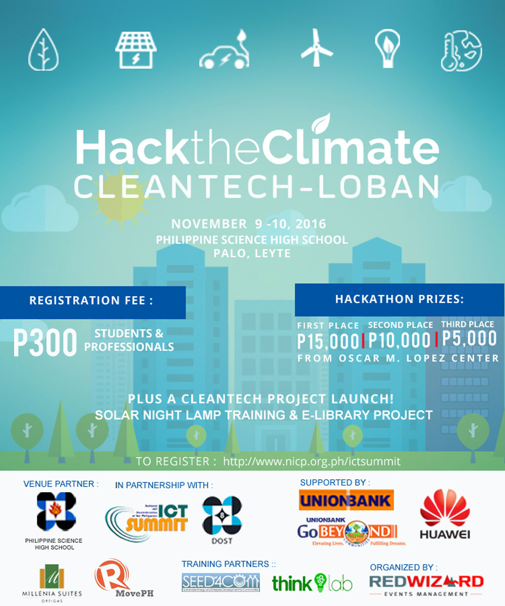 Hack the Climate Pushes for Clean Technology- Clean CleanTechloban