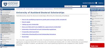 Scholarship Doctoral Auckland University