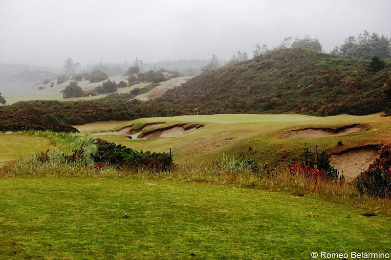 Fog Over Bandon Dunes Golf Resort Pacific Dunes Course Oregon