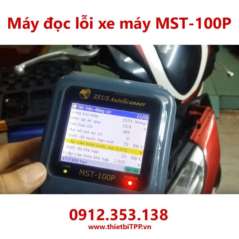 may doc loi mst100p, may doc loi xe may fi, may test loi xe may mst100p, may chuan doan loi xe may mst100p, may bao loi xe tay ga