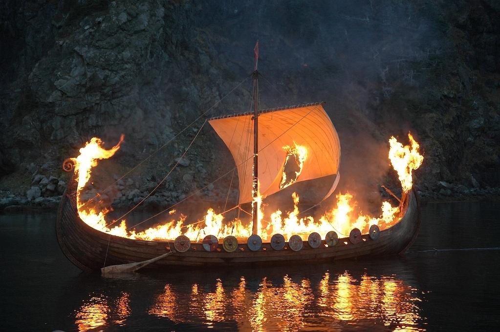 Funeral de 'Vikings'