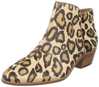 cheap animal print ankle boots