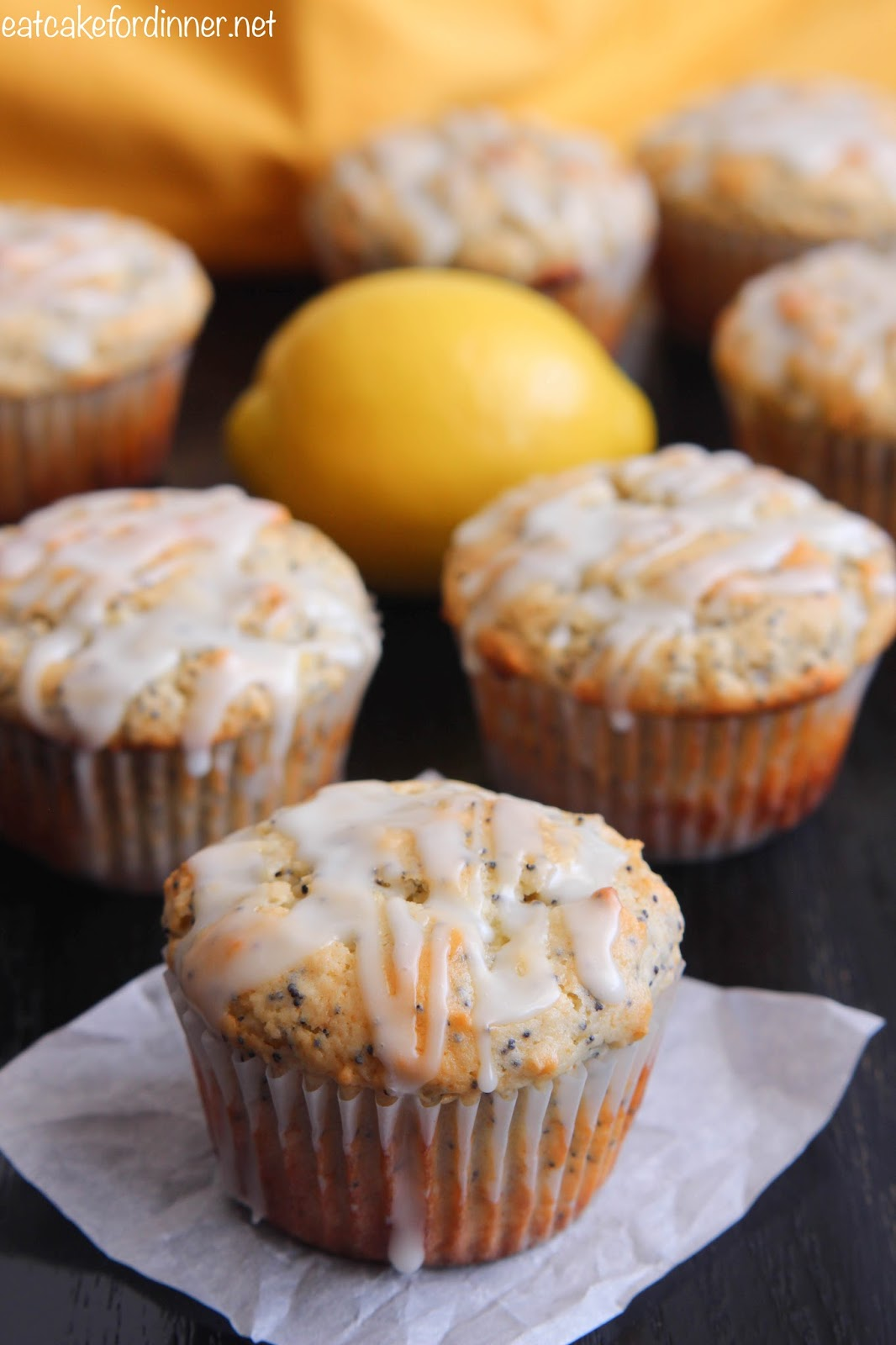 how to make lemon poppy seed muffins with cake mix