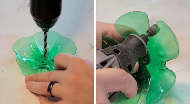 soporte para bisutería reciclar botella de plástico DIY