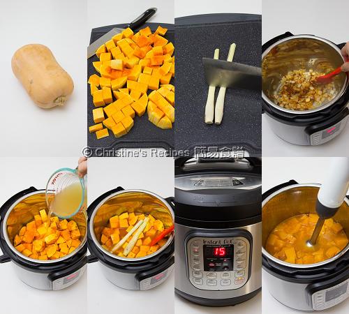 Thai Pumpkin Soup Procedures